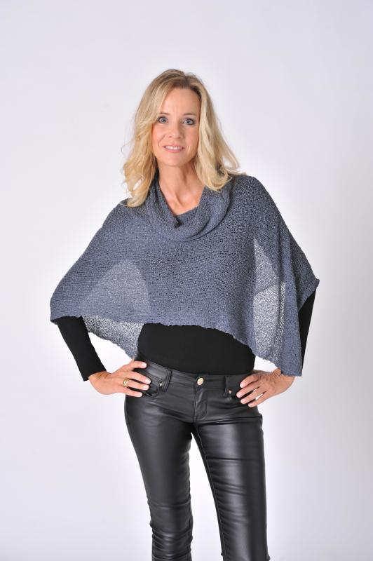 Poncho Collar Neck Double